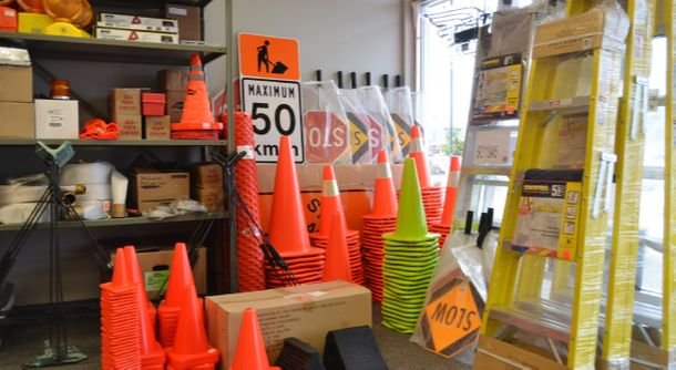 Cones and signs